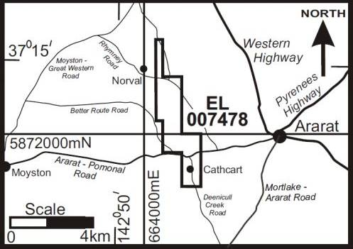 MAPPED OUT: This is the proposed area Stawell Gold Mines wants to explore with a new license. Picture: STAWELL GOLD MINES