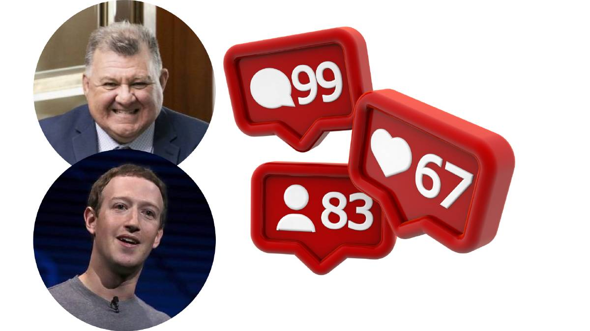 Influencers? Craig Kelly MP and Facebook's Mark Zuckerberg.