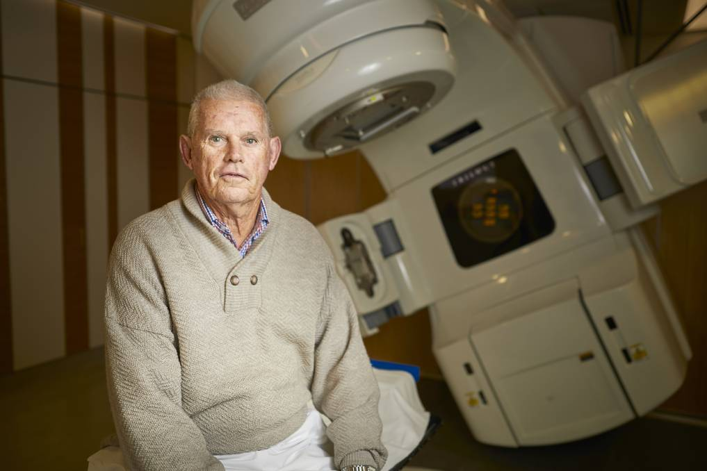 RESULT: Prostate cancer patient Robert Howland, from Ararat, has just finished the shorter, higher-dose radiotherapy treatment course at BAROC in half the time of standard treatment. Picture: Luka Kauzlaric