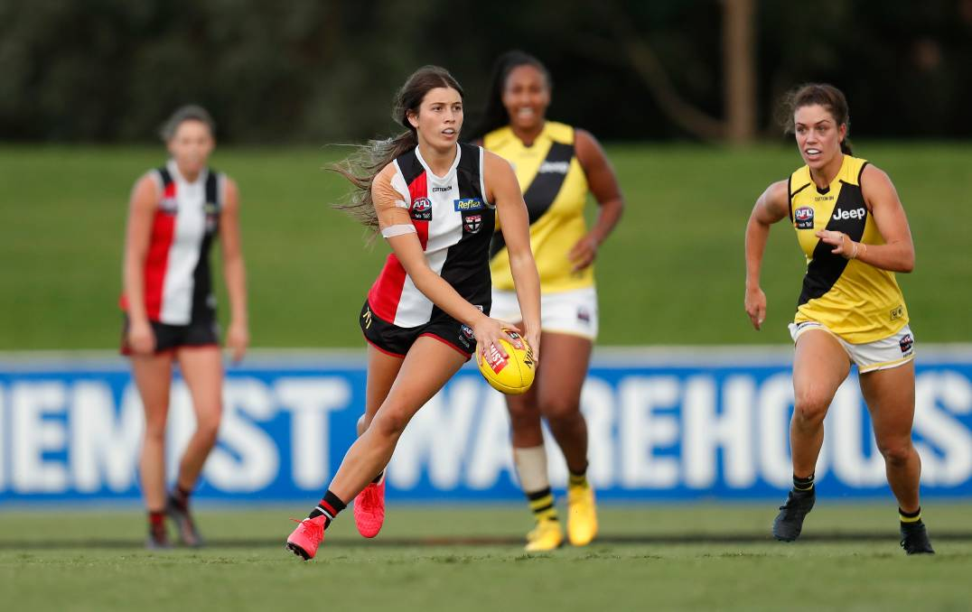 STANDOUT: St Kilda's Georgia Patrikios is one of the AFLW's emerging players. Picture: Getty Images