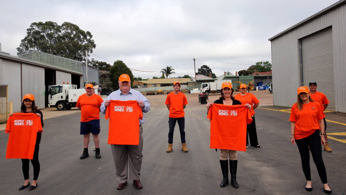 NO VIOLENCE: ARCC has purchased orange t-shirts and hats to promote the 'Respect Women: Call it out' campaign. Picture: ARCC